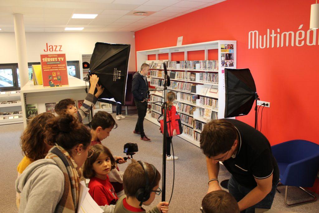 Studio Entre Temps Charles MARTIN Atelier Tournage Médiathèque Montlouis Sur Loire Decouverte et initiation aux outils de l'audiovisuel Stephan Hessel