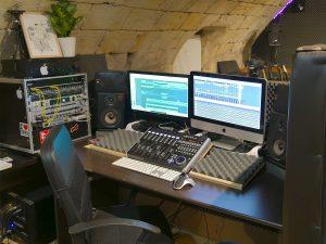 Studio repetition Entre Temps Charles MARTIN Regie Ordinateur Universal Audio Rochecorbon